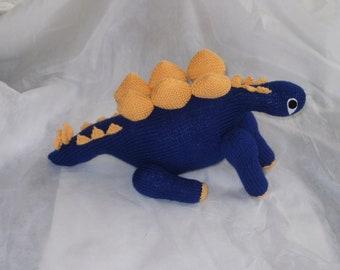Hand Knit Stegosaurus