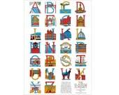 Glasgow Alphabet A2 Poster