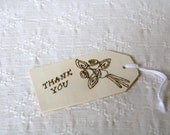 Wooden Gift Tag- Bouquet Thank you