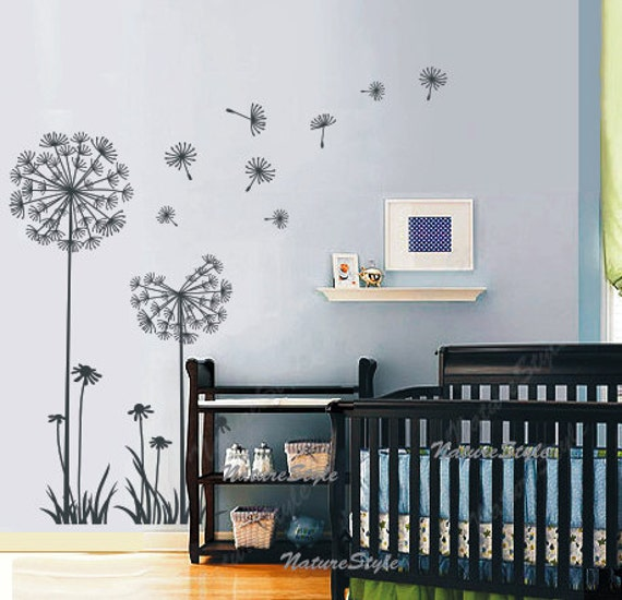 pissenlits mur stickers chambre denfant mur autocollant b b. Black Bedroom Furniture Sets. Home Design Ideas
