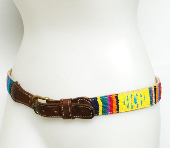 WHOLESALE: VINTAGE 80s 90s Leather Hippie Belt