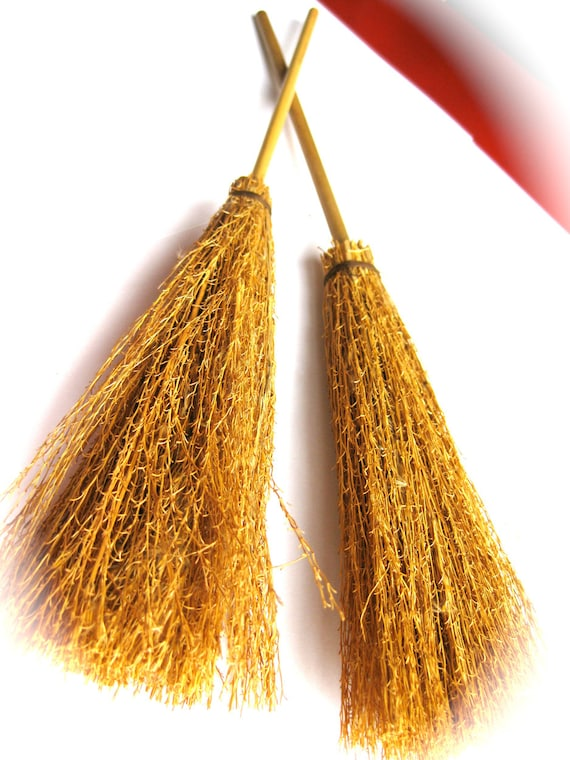 SALE! Vintage Miniature Witches' Broomsticks-Spooky Halloween Decor-Kids Costumes-Fall, Autumn, October, Rustic Brooms-By Couture Nicole