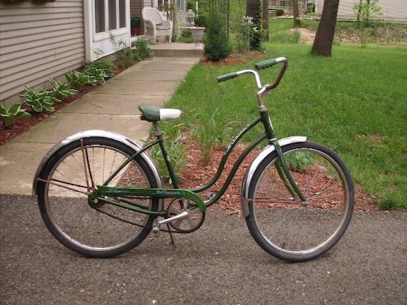 Schwinn Bicycle Painting : Vintage schwinn green girls hollywood bike low miles