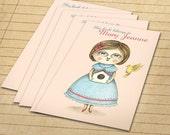 Set of 12 Custom Bookplates - Fly Home Birdie