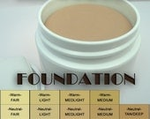 SAMPLES Choose 3 Oil Free FOUNDATION, in warm, neutral, cool tones, Three 3g vials