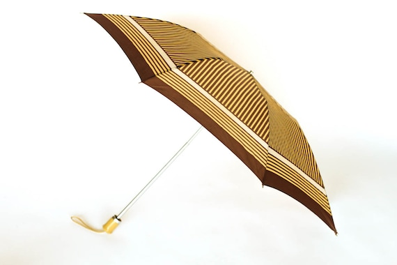 Umbrella with Brown Stripes