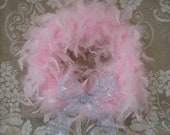 Pink Feather Wreath, Marie Antoinette, Shabby Chic