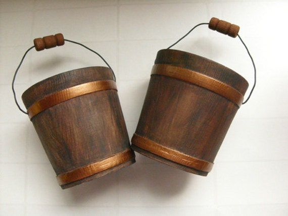rustic wood bucket autumn wedding decor 3 miniature