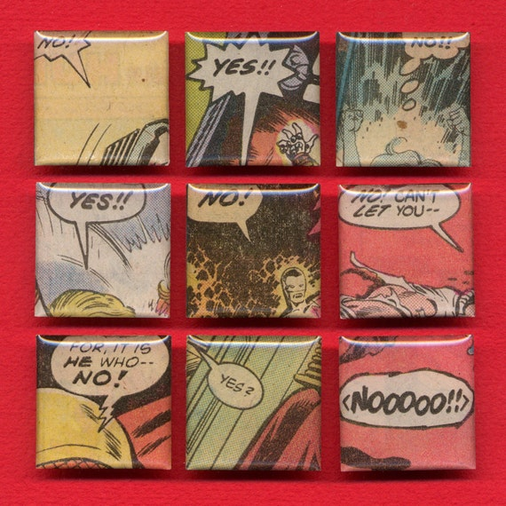 Comic Book Magnet Set - ''No ...YES""