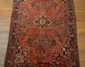 A20 size 3.4x5.3 Antique Persian Rug / Vintage Oriental Rug