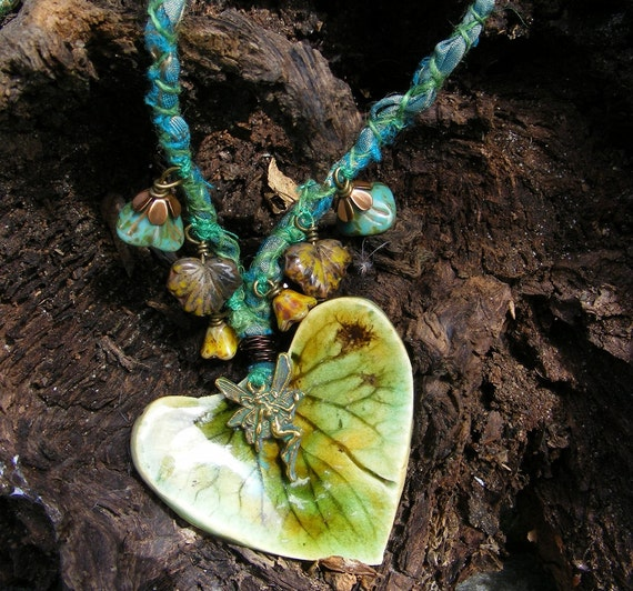 Fairy Leaf Necklace Fae Adornment