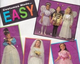 Simplicity 8579 Girls' Costume Pattern, UNCUT, Size 3-4-5-6-7-8, Bee, Bride, Princess, Fairy, Ballerina, Angel