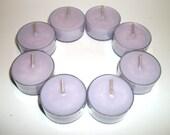 Lavender Scented Pure Soy Tea Lights Set of 8