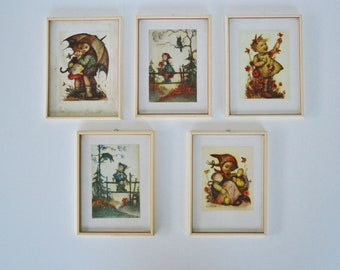 Hummel Prints Framed Hummel Prints Nursery Decor Childs Room Herbert Dubler Lithographs Vintage Hummel Pictures