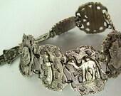 Vintage Moroccan Souvenir Hamsa Bracelet