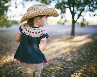Boy Fair Isle Style Crochet Sweater Pattern No. 9