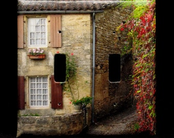 Double Switchplate Cover - Quiet Lane in Beynac
