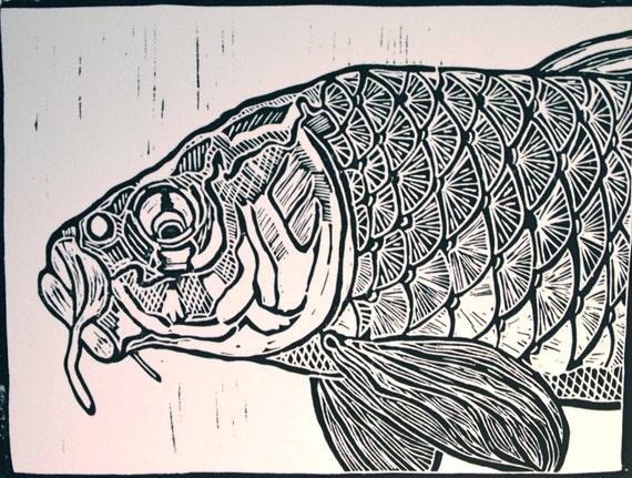 Carp Fly Fishing Artwork by Jonathan Marquardt of BadAxeDesign