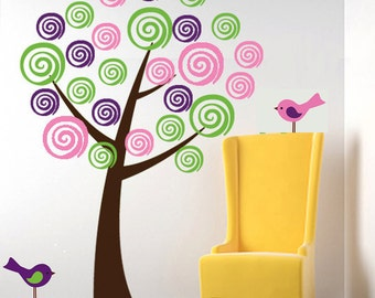 REUSABLE Tree Wall Decal - Childrens Tree Wall Decal - T132SWA