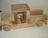 Natural Wood - Childrens Toy- Handmade - Old Timey - Pick- Up Truck - Hardwoods - Woodworking - Heirloom Toy