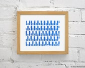 Modern Blue Print - Pattern Minimalist Art