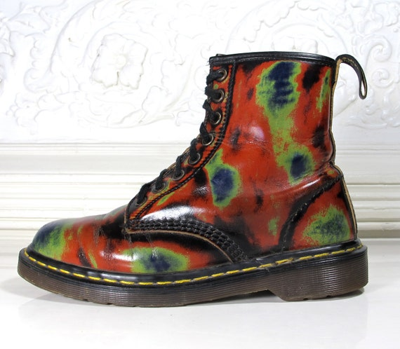 Vtg 90s Thermal Leather Dr. Martens Combat Boots / Rare Doc Martens Boots / Women's Size 9 US - 40 Eur - 5 UK