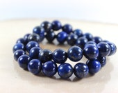 Lapis Lazuli Bracelets,  Stretch Bracelets, Gemstone Bracelets, Blue Bracelets, Navy Blue, Something Blue, Beaded Bracelets