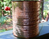 Vintage Bromwell's Measuring Sifter Five Cups With Wooden Handle