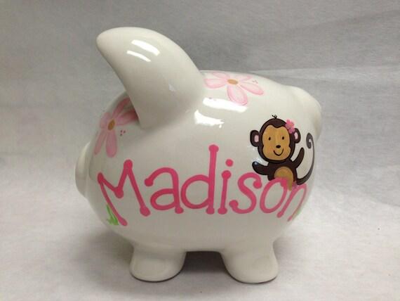 Personalized Piggy Bank Carters Jungle Jill