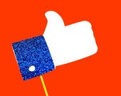 Photo Booth Props - Thumbs Up - GLITTER Photobooth Prop - Great for weddings, birthdays, parties