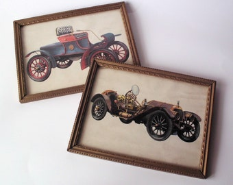 Oldsmobile Runabout and Mercer Raceabout Framed Prints