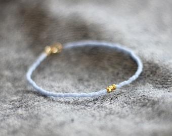 light periwinkle - gold trio bracelet