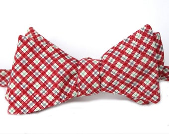 Holiday Argyle Mens Bow Tie
