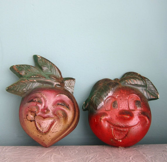 Kitschy Vintage Fruit and Veg Chalk Plaques