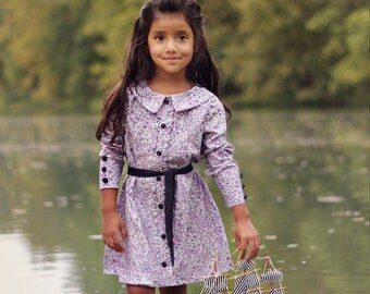 Josephine Dress and Blouse PDF Pattern and  Tutorial, all Sizes 2-10 years included