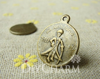 Antique Bronze 1989 le petit prince (The Little Prince) Dos Pesos Coins 20mm - 10Pcs - DC20893