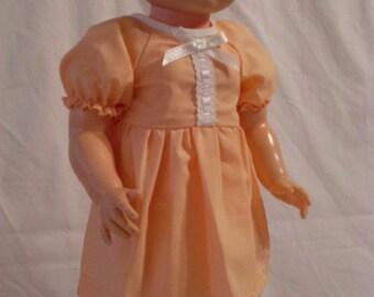 "19-20"" Light Orange Dress and Panty Set"