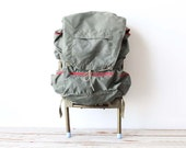 Army Green Hiking Backpack with Aluminum Frame