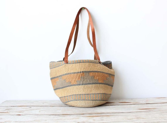 Woven Leather Southwestern Bag