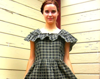 Vintage farmhouse dress picnic dress