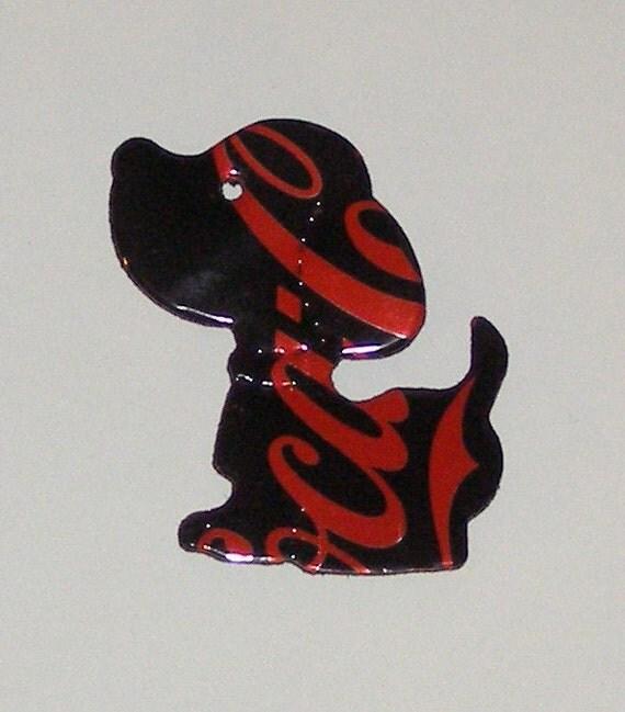 Puppy Dog Magnet - Black Red Coca Cola Zero Soda Can
