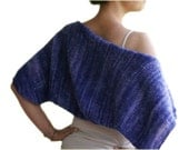 Knit Shrug in Variegated Purple - Bridal Mohair Bolero - Fall Winter Fashion - Women Teens Accessories