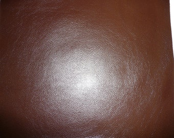 """12""""x12"""" Cafe Chocolate Brown GLAZED Cowhide Leather Hide 3-3.5 oz/1.2-1.4 mm PeggySueAlso"""