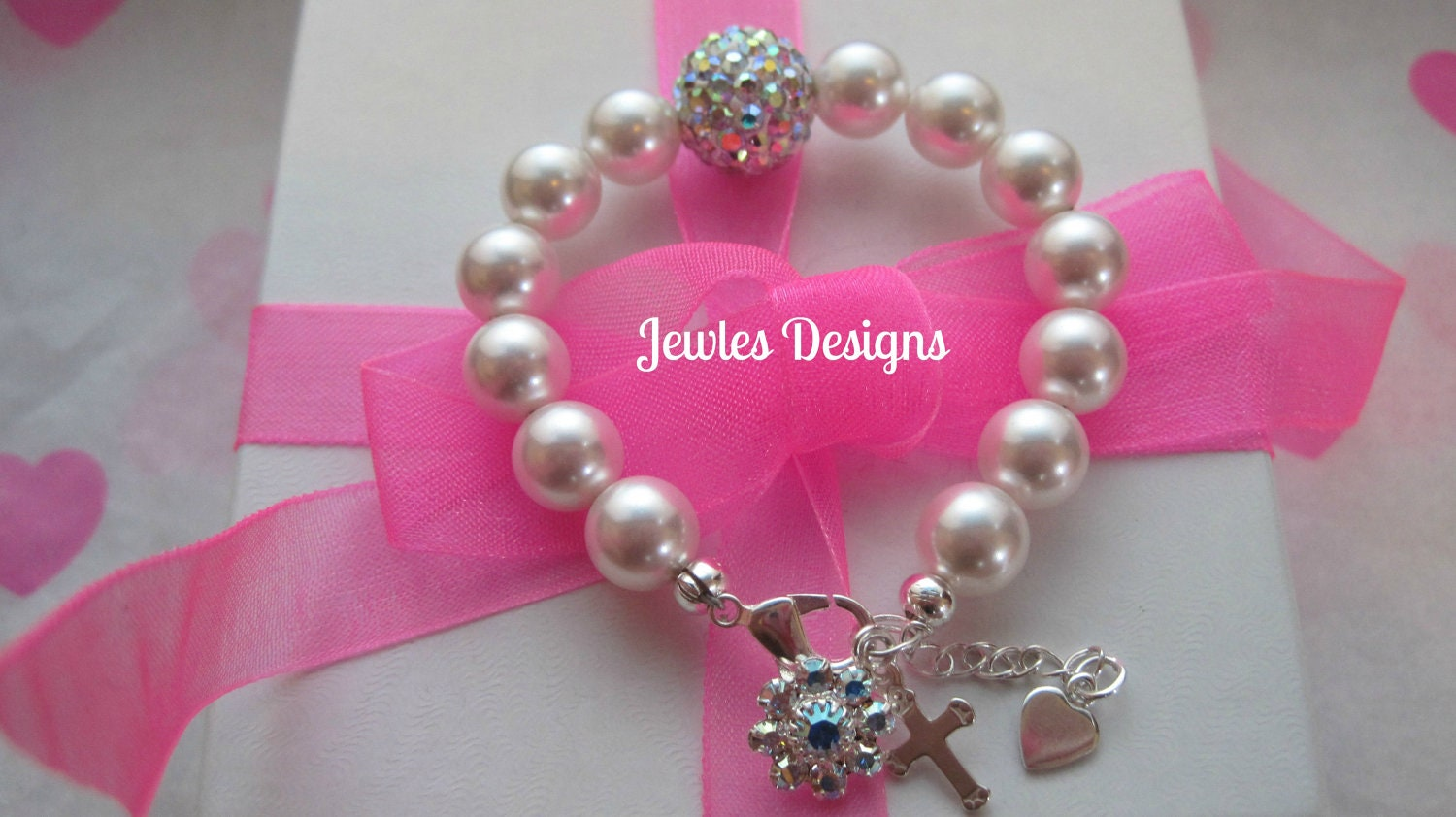 Baby Girl Gift Ideas: Infant Jewelry SWAROVSKI Baby Bracelet Baptism Flower Girl