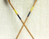 SALE - 2 Rubber Tip Toy Wood Arrows - Vintage - Yellow and Black