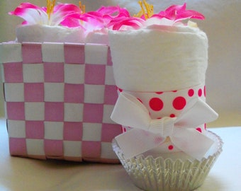Baby Girl Diaper cupcakes, the perfect baby shower gift or decoration - made to order