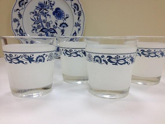 Corelle Glasses Old Town Blue Danube Blue Onion