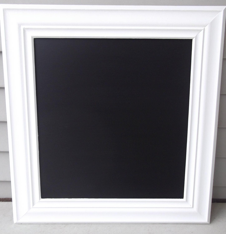 Large White Framed Chalkboard