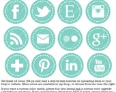 12 Social Media Buttons For Your Blog Design