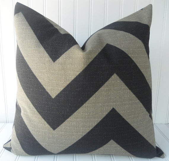 CUSTOM LISTING for PAM - Set of 2 26 x 26 inch Black Chevron Pillow Covers. Throw Pillow, Accent Pillow